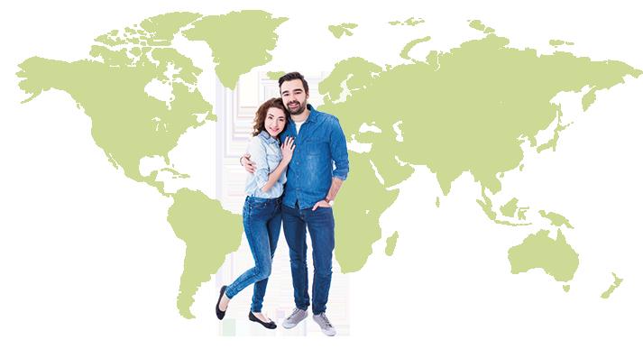 Ungt par, världskarta, dödsorsaker