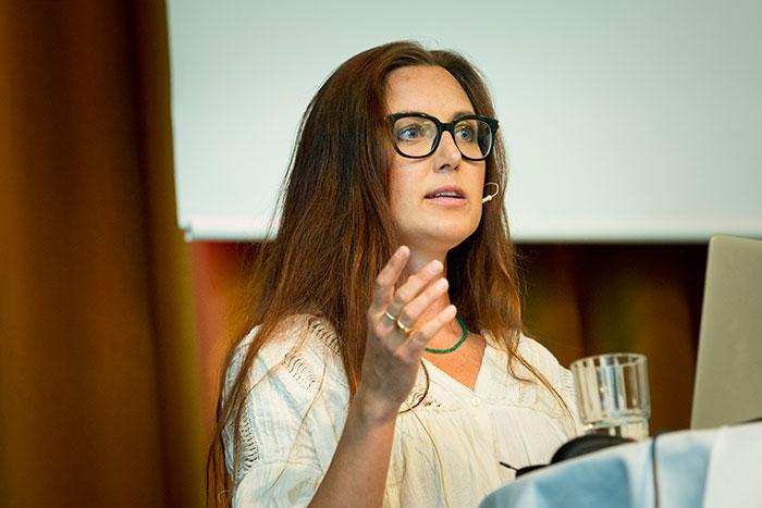 Sanna Lundell talade på Systembolagets seminarium