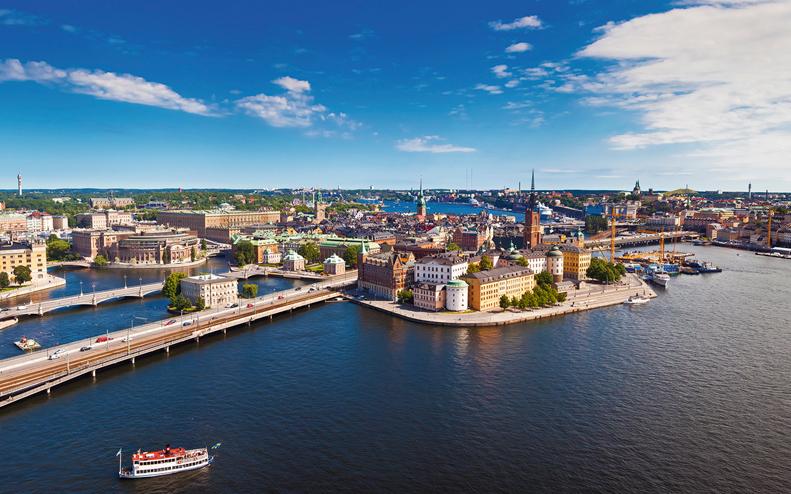 Vy över Stockholm och vattnet