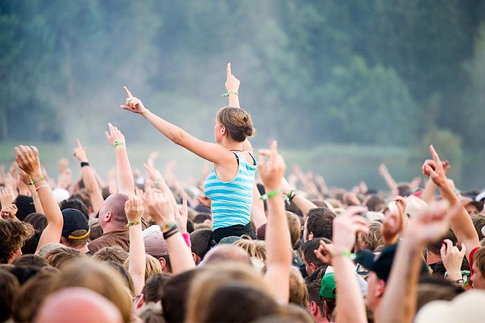 Publikvimmel på festival