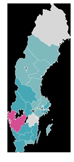 Karta över Sverige – psykisk ohälsa