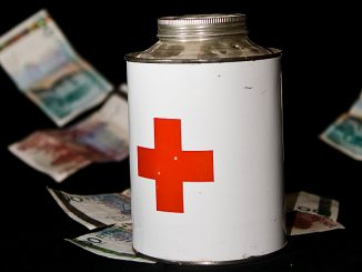 Insamlingsbössa med pengar