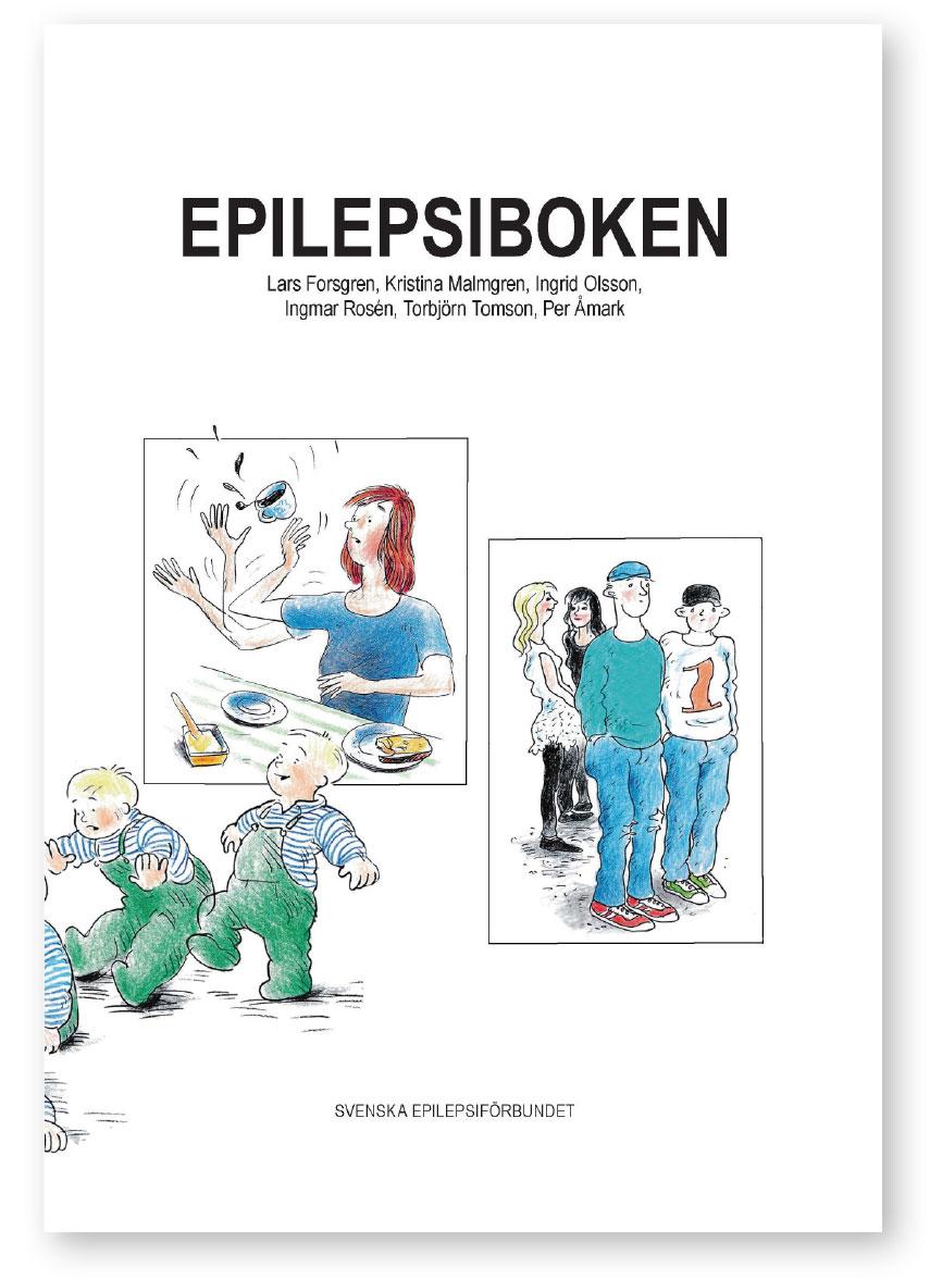Epilepsiboken på vit bakgrund