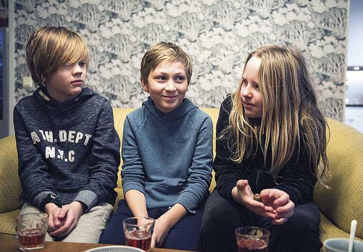 Edwin, Emre och Max.